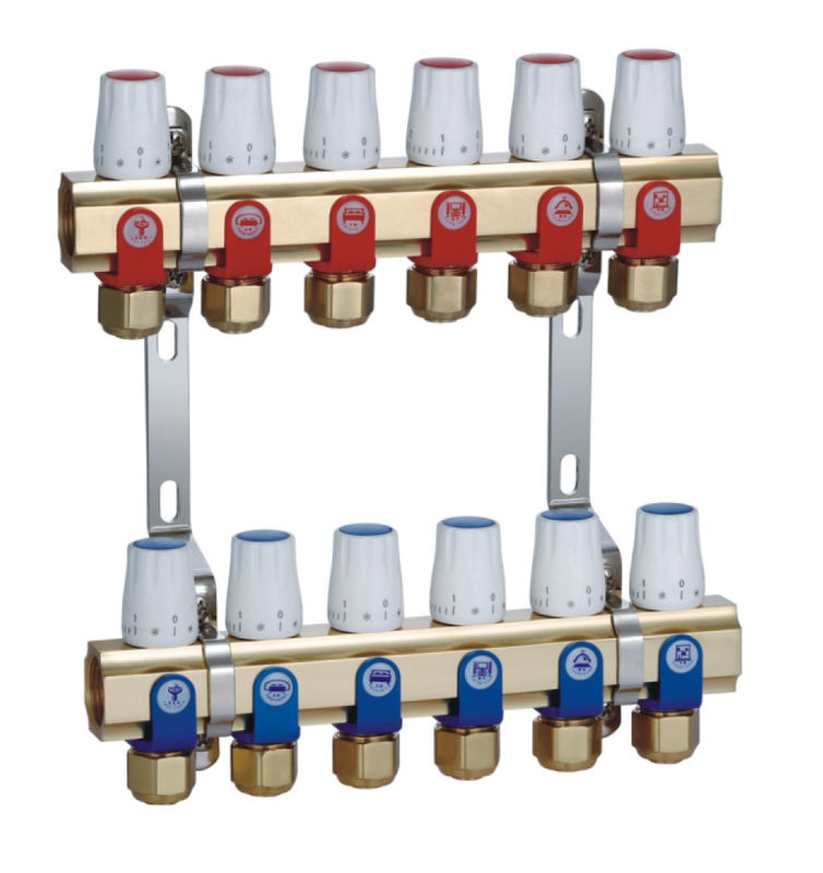 Brass Underfloor Heating Manifold Standard ISO with Intelligentized control